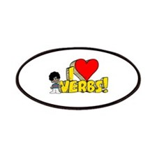 I Heart Verbs - Schoolhouse R Patches