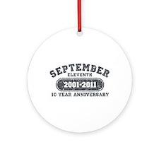 911 Anniversary Ornament (Round)