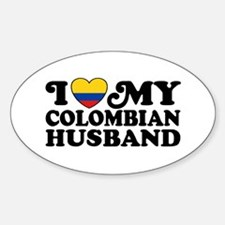 I Love My Colombian Husband Decal