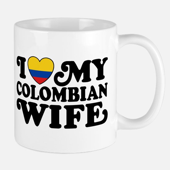 I Love My Colombian Wife Mug