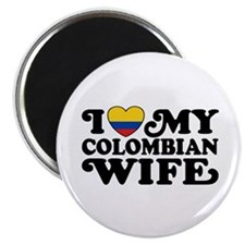 I Love My Colombian Wife Magnet