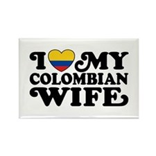 I Love My Colombian Wife Rectangle Magnet