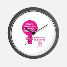 Free of Poverty Wall Clock