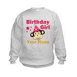Birthday girl custom Kids Sweatshirt