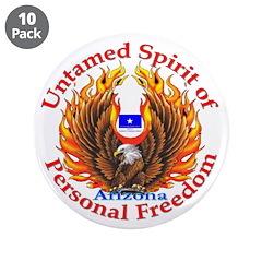 """Untamed AZ Spirit 3.5"""" Button (10 pack)"""