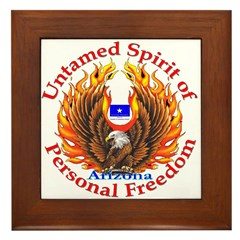 Untamed AZ Spirit Framed Tile