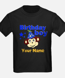 Birthday boy monkey custom T