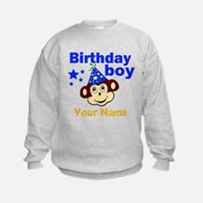 Birthday boy monkey custom Sweatshirt