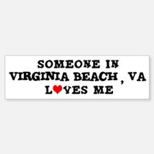 Someone in Virginia Beach Bumper Bumper Bumper Sticker