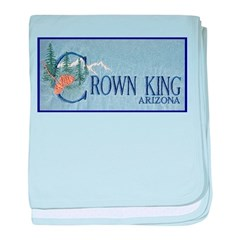 Crown King baby blanket