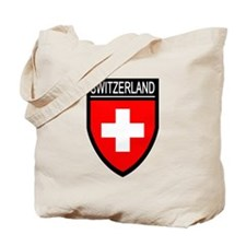 Switzerland Flag Patch Tote Bag