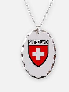 Switzerland Flag Patch Necklace