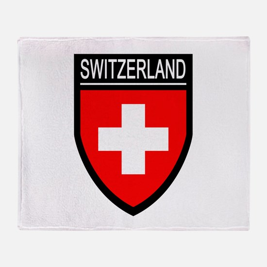 Switzerland Flag Patch Throw Blanket