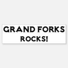 Grand Forks Rocks! Bumper Bumper Bumper Sticker
