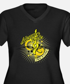 Sarcoma Advocacy Rocks Women's Plus Size V-Neck Da