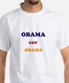 Obama got Osama White Tee
