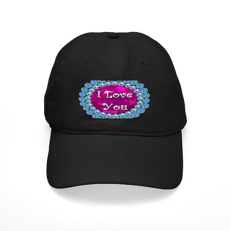 I Love You Diamonds Black Cap
