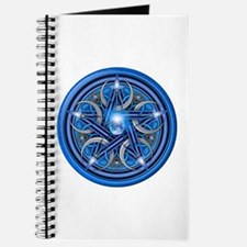 Blue Crescent Moon Pentacle Journal