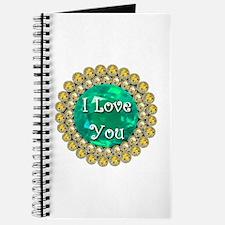 I Love You Birthstones Journal