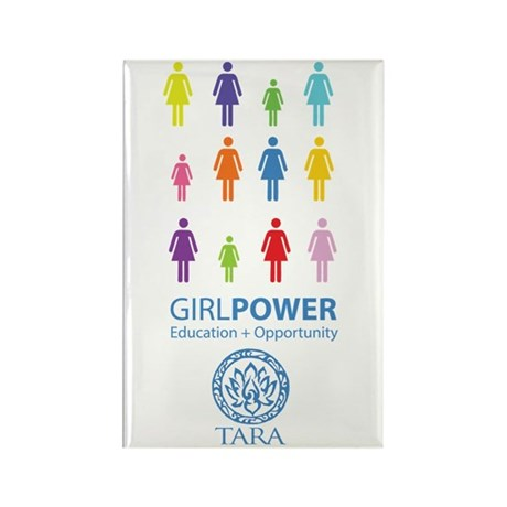 Girl Power! Color Light Rectangle Magnet