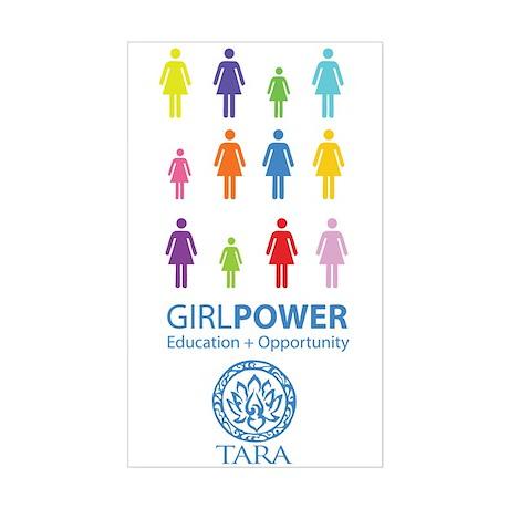 Girl Power! Color Light Sticker (Rectangle)