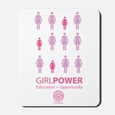 Girl Power! Pink Light Mousepad
