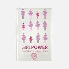 Girl Power! Pink Light Rectangle Magnet