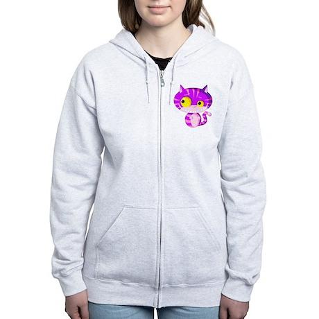Cheshire Kitten Women's Zip Hoodie