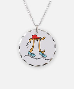 Funny Long Running Pi Necklace