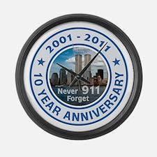 911 Anniversary Large Wall Clock