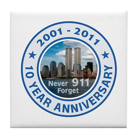 911 Anniversary Tile Coaster