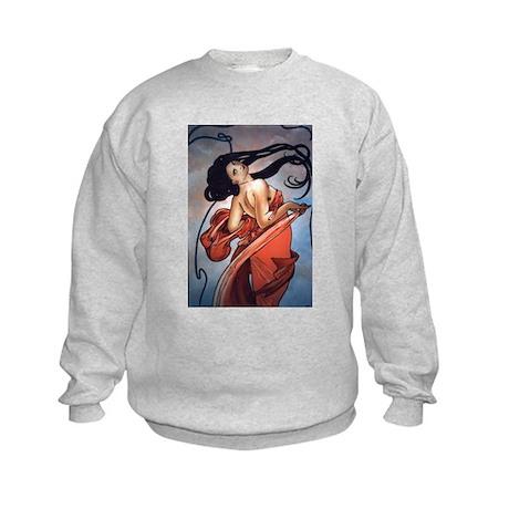 Alphonse Mucha Kids Sweatshirt
