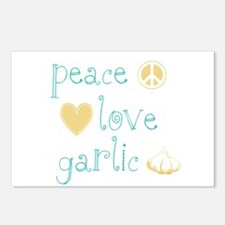 Peace, Love and garlic Postcards (Package of 8)