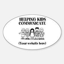 Helping Kids Communicate Sticker (Oval)
