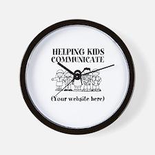 Helping Kids Communicate Wall Clock