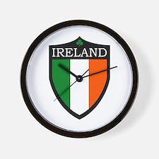 Ireland Flag Patch Wall Clock