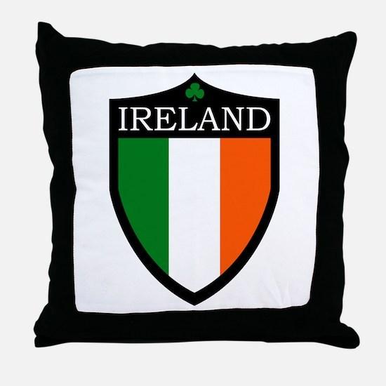 Ireland Flag Patch Throw Pillow