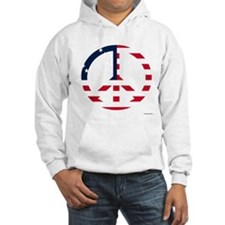 Cool American Flag Peace Sign Hoodie