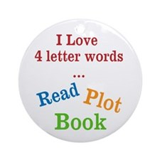 4 Letter Words Ornament (Round)