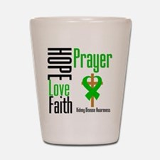 Kidney Disease Hope Prayer Shot Glass