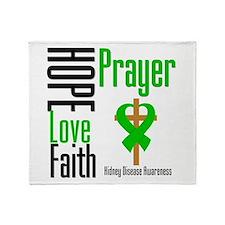 Kidney Disease Hope Prayer Throw Blanket