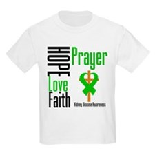Kidney Disease Hope Prayer T-Shirt