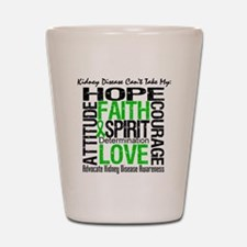 Kidney Disease Can'tTakeHope Shot Glass