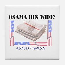 Osama Bin Laden Tile Coaster
