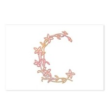 Floral 'C' Postcards (Package of 8)