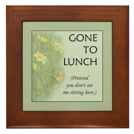 Gone to Lunch Framed Tile