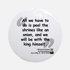 Carter Shrines Quote Ornament (Round)