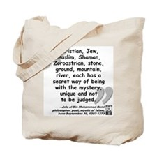 Rumi Mystery Quote Tote Bag