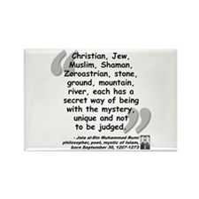 Rumi Mystery Quote Rectangle Magnet