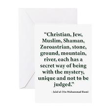 Rumi Religion Quote Greeting Card